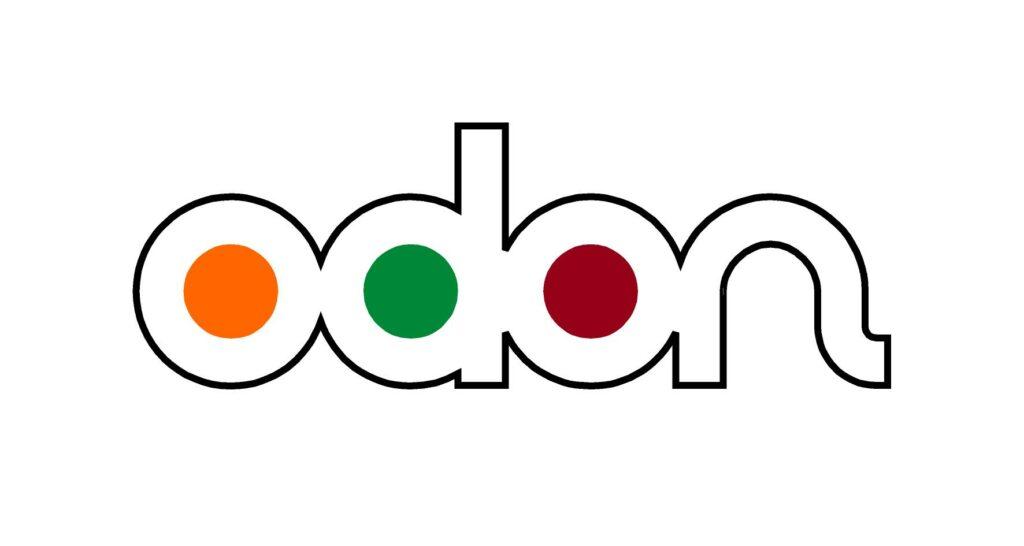 Immagine del logo Odòn a colori su fondo bianco
