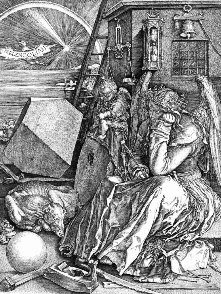 Immagine della La Melencholia di Albrecht Dürer