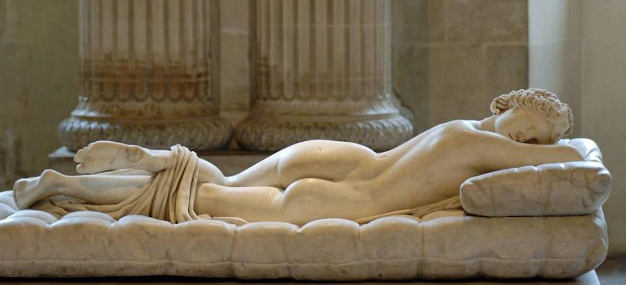 L'Ermafrodito dormiente di Antonio Canova a Villa Borghese
