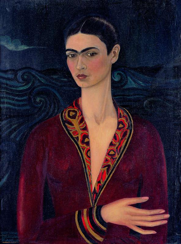 Immagine di autoritratto con vestito di velluto