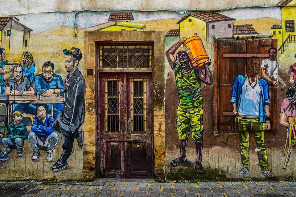 Immagine di un murales