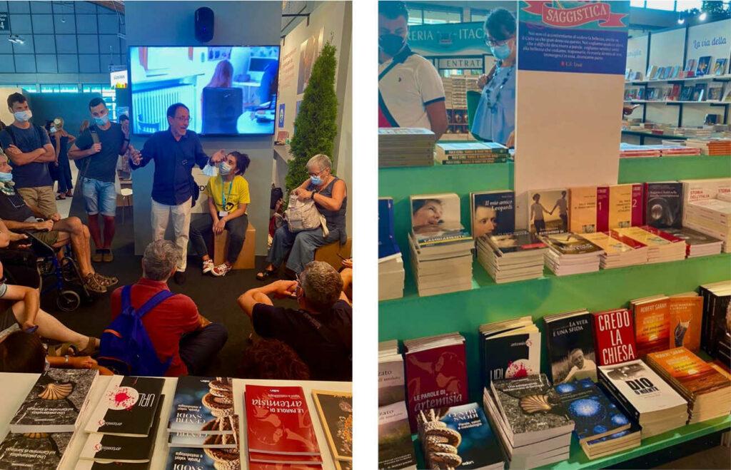 Immagine dello stand e dei libri di Odòn